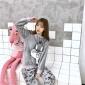 淘工厂定制 日韩风女士圆领套头法兰绒休闲家居服 中高品质